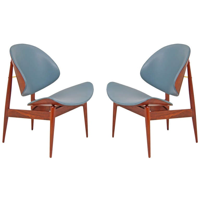 Kodawood Vintage U201cClam Shellu201d Chairs By Seymour James Wiener For Sale Design Inspirations