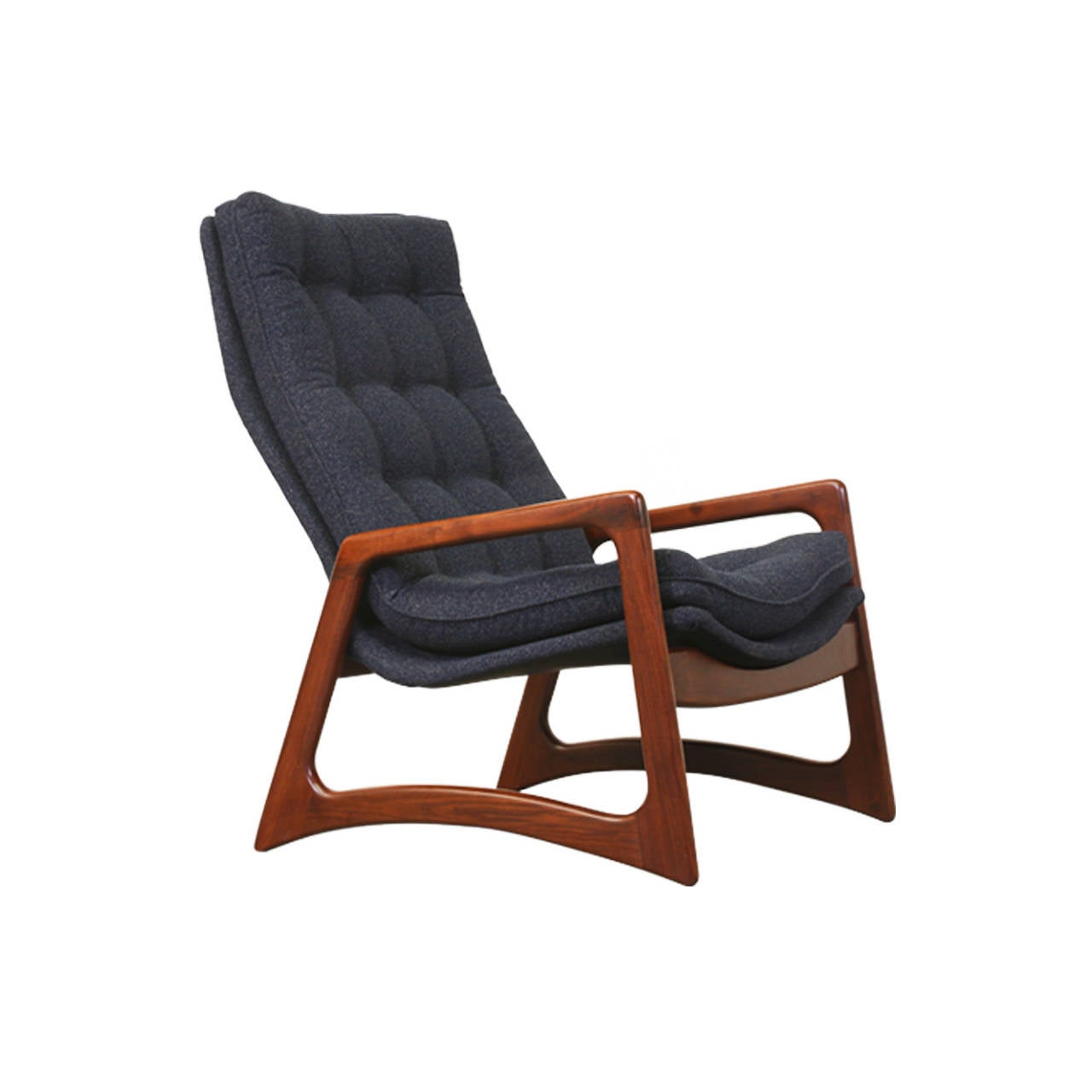 Adrian Pearsall High Back Tufted Lounge Chair for Craft Associates at 1stdibs