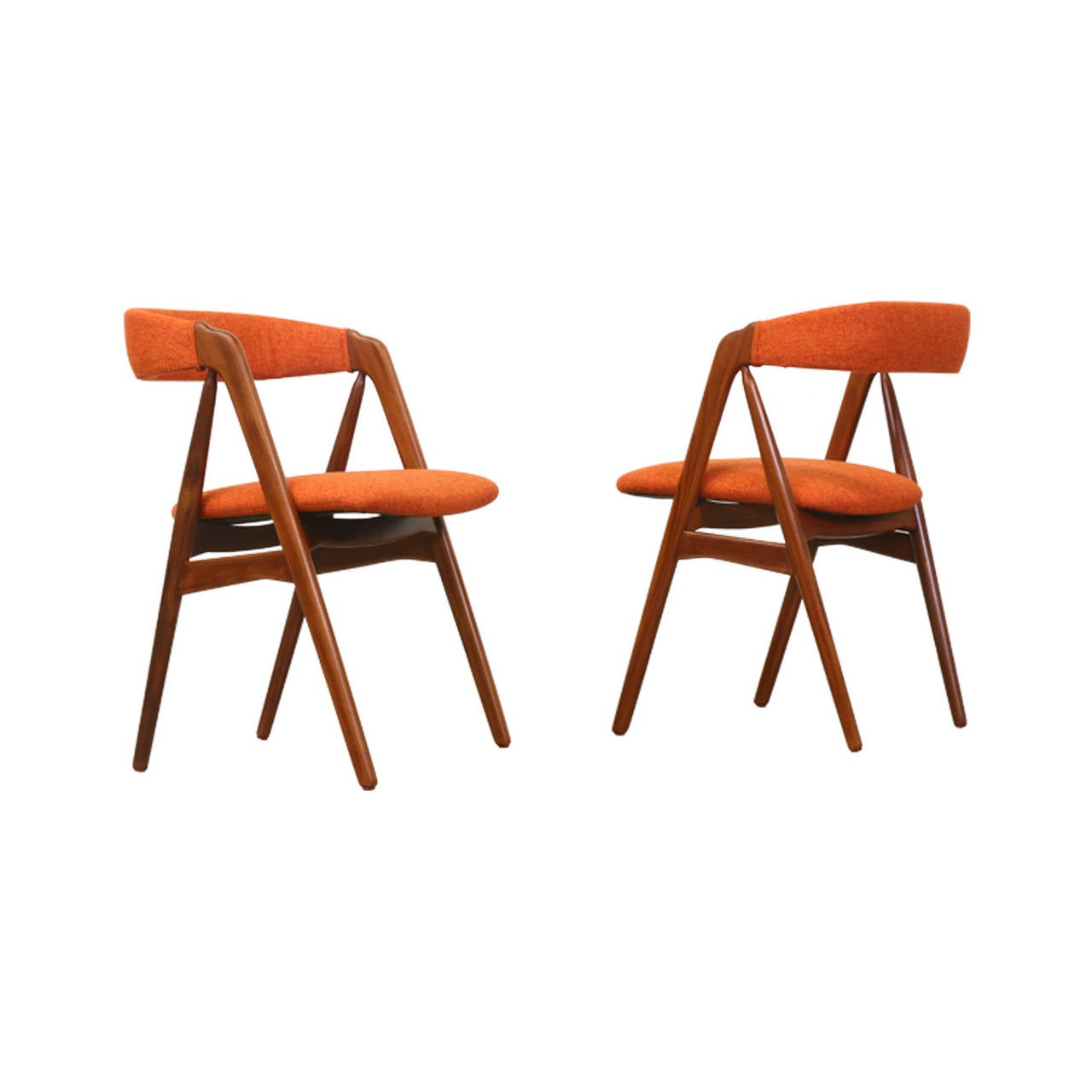 Kai Kristiansen A Frame Dining Chairs At 1stdibs