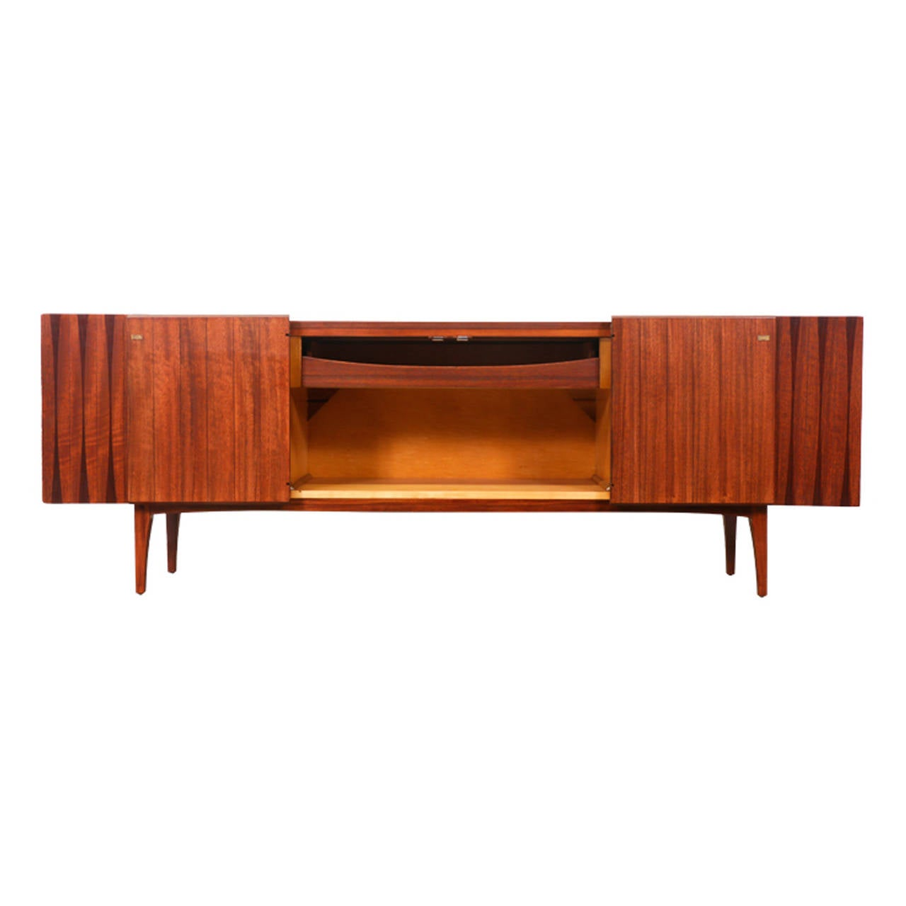Mid Century Credenza With Rosewood Inlaid By Lane At 1stdibs