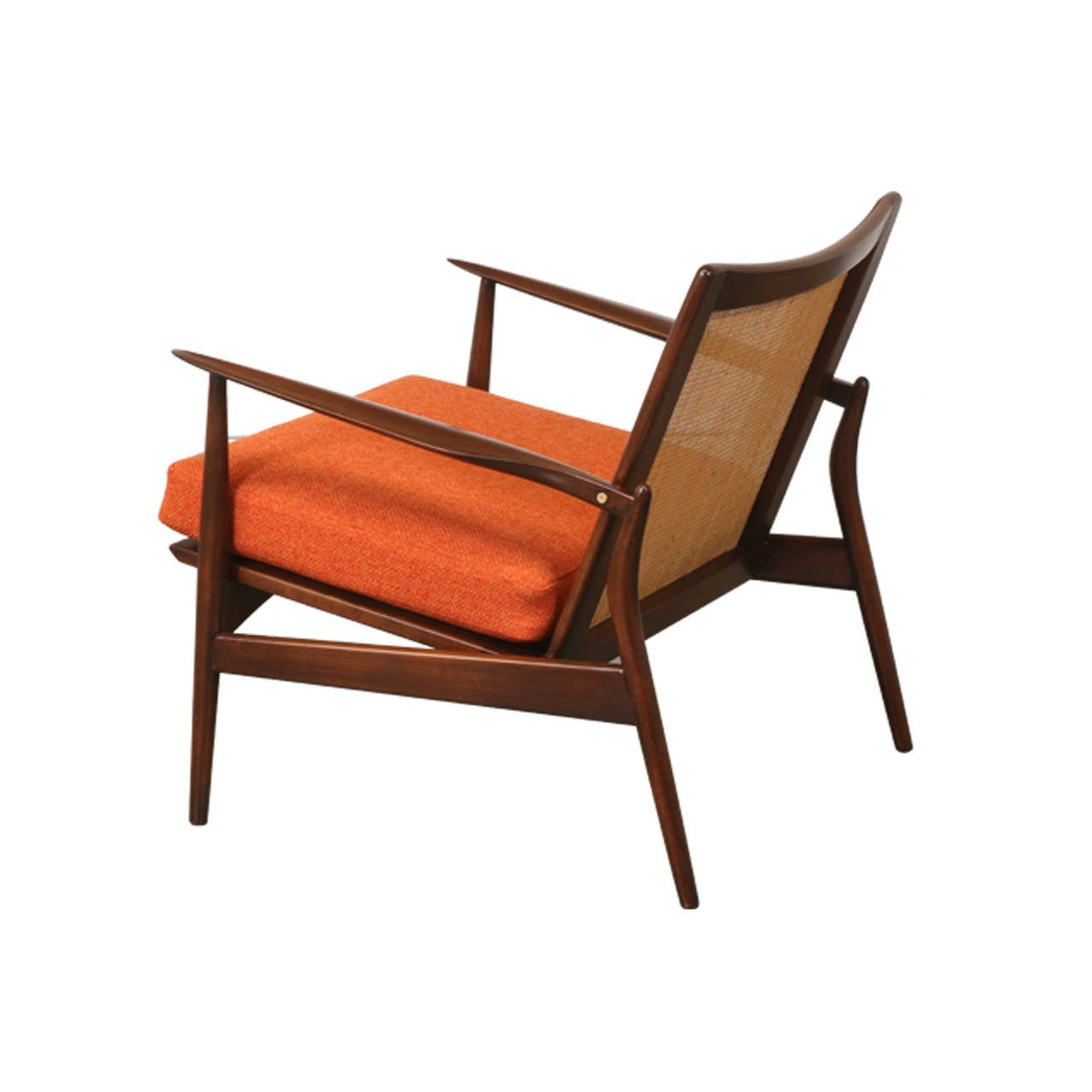 This sculptural pair of lounge chairs by ib kofod larsen is no longer - Ib Kofod Larsen Spear Chair For Selig 2