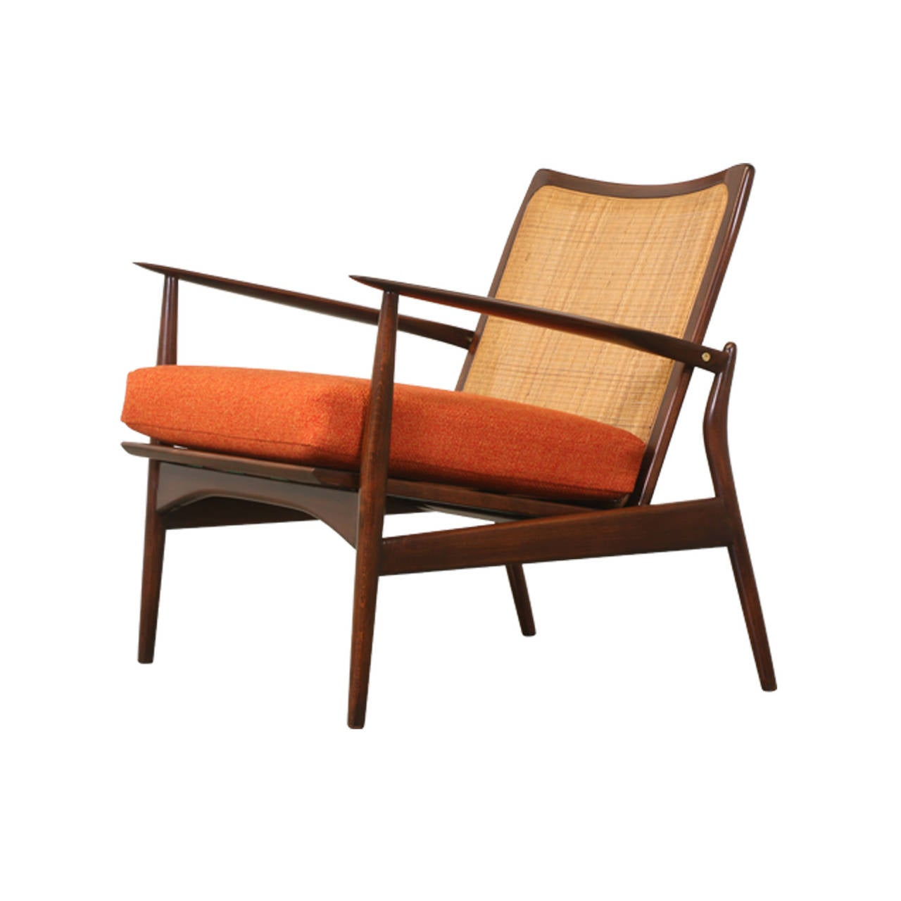 This sculptural pair of lounge chairs by ib kofod larsen is no longer - Ib Kofod Larsen Spear Chair For Selig 3