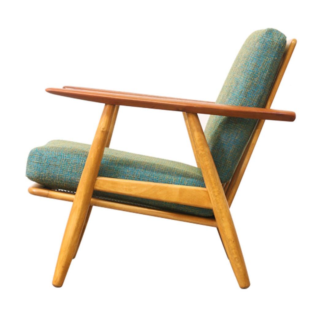 "Hans J Wegner GE 240 ""Cigar"" Lounge Chair for Getama at 1stdibs"