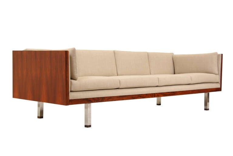 Thayer Coggin Mid Century Modern Rosewood Sofa by Milo Baughman 2