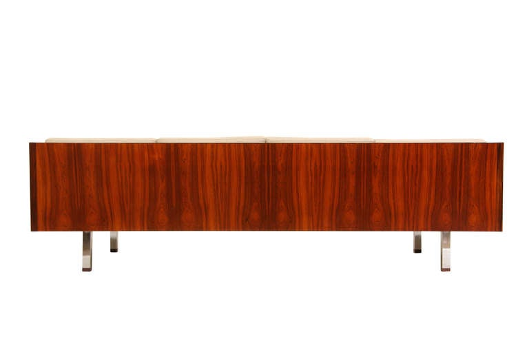 Thayer Coggin Mid Century Modern Rosewood Sofa by Milo Baughman 4