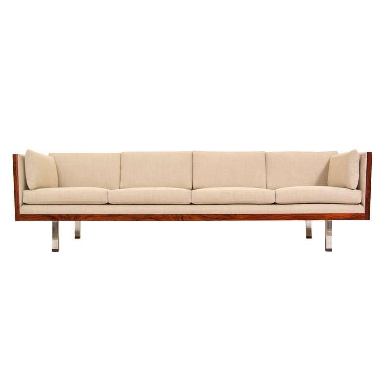 Thayer Coggin Mid Century Modern Rosewood Sofa by Milo Baughman 1