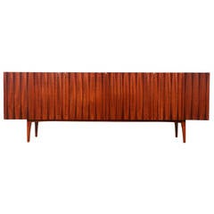 Mid-Century Credenza with Rosewood Inlaid by Lane