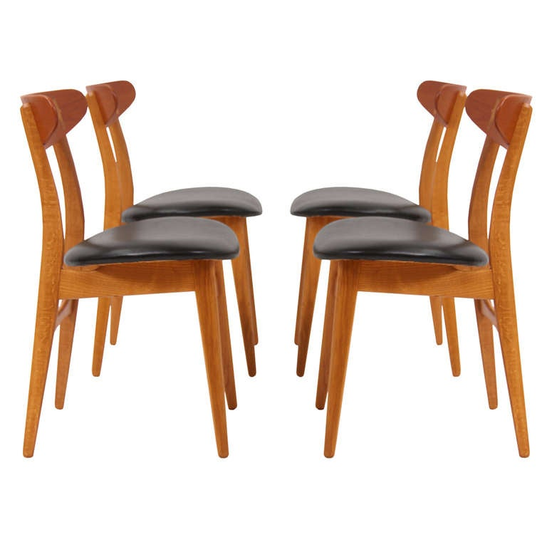 this danish modern dining chairs model ch 23 by hans j wegner is no