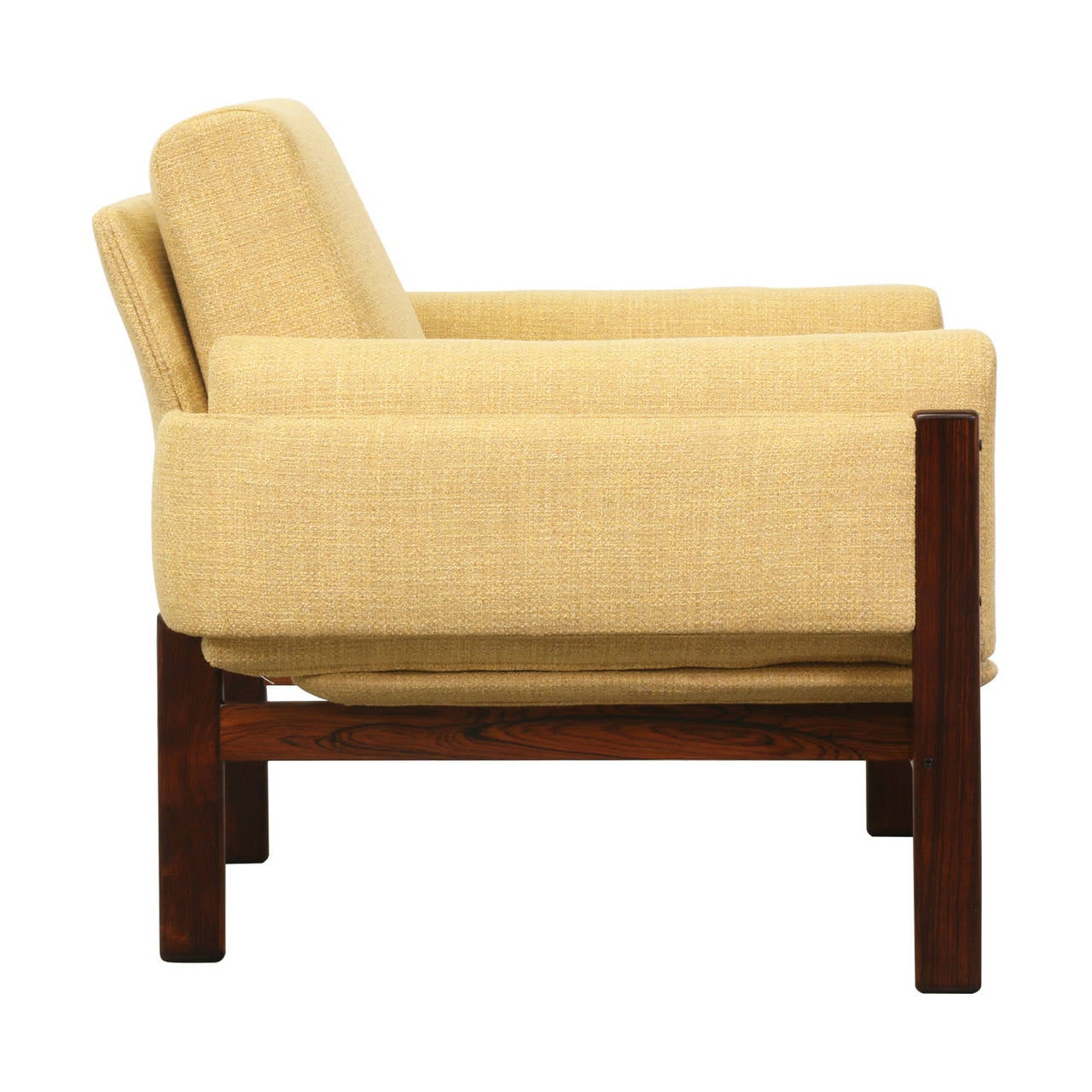 ... Flueline? Rosewood Easy Chair for Dokka Mobler For Sale at 1stdibs