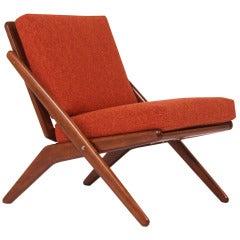 """Jutex """"Scissor"""" Chair by Arne Hovmand Olsen"""