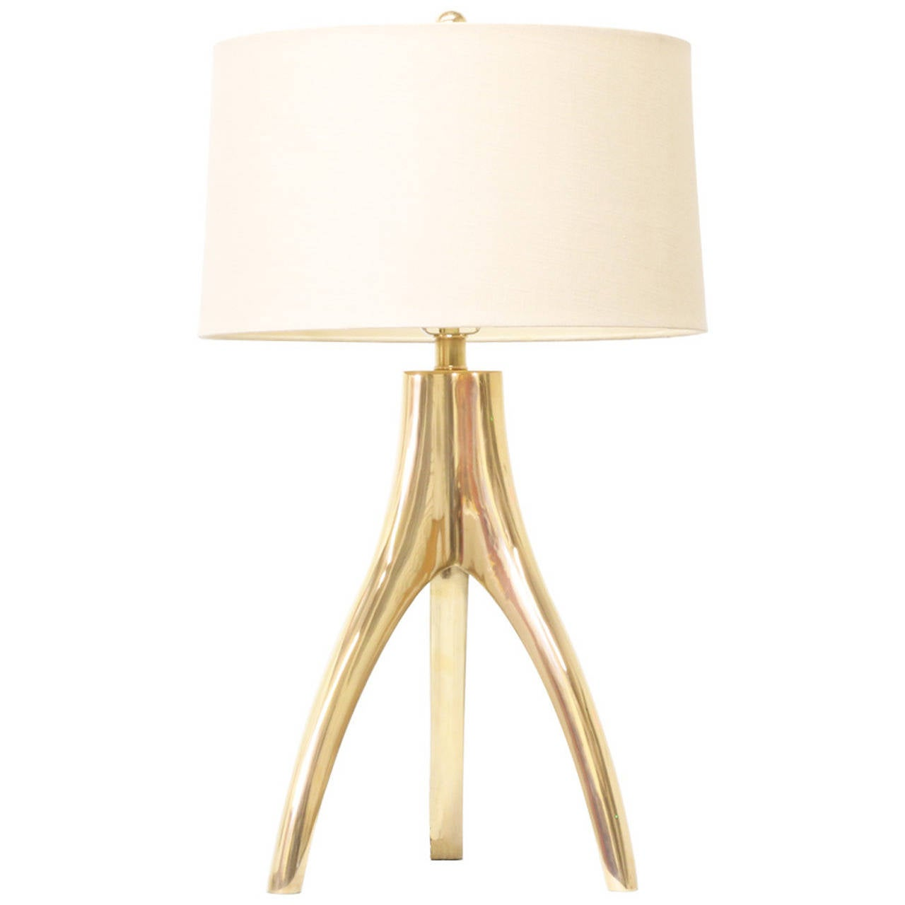 Vintage Brass Tripod Table Lamp At 1stdibs