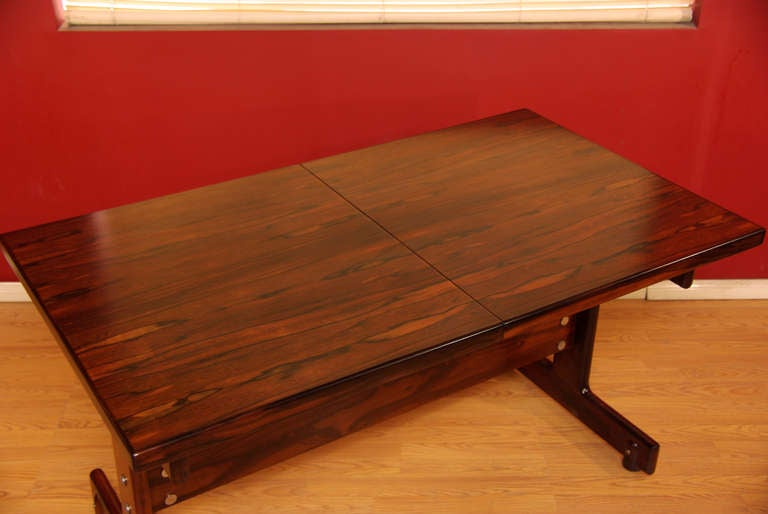 Brazilian Rosewood Table By Sergio Rodrigues 3
