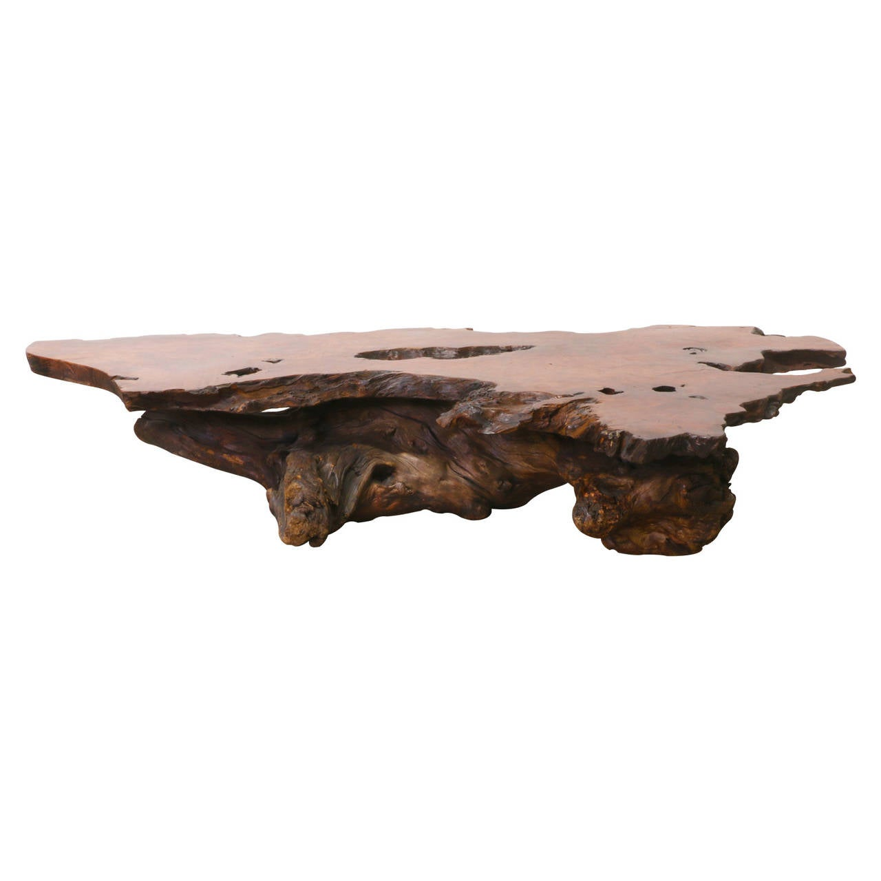 Vintage Driftwood Coffee Table At 1stdibs