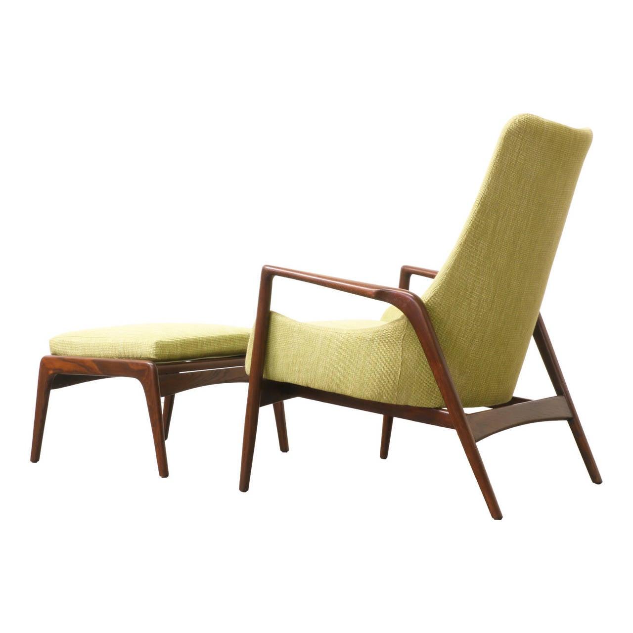 Kofod Larsen Lounge Chair with Ottoman at 1stdibs