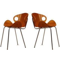 Vintage Plywood Chairs by Ola Kettunen