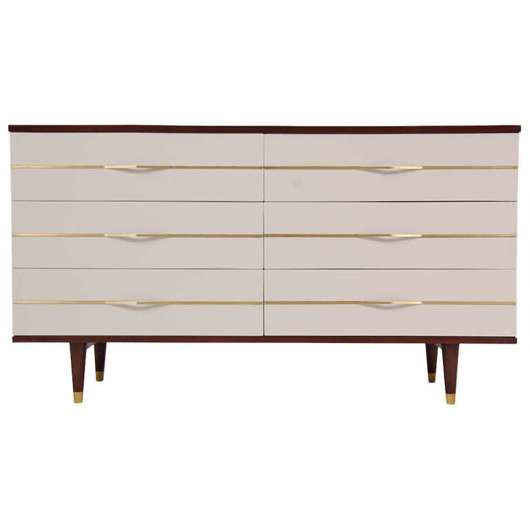 Mid Century Modern Two Tone Lacquered Dresser At 1stdibs