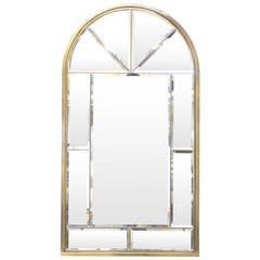 Vintage Brass Wall Mirror