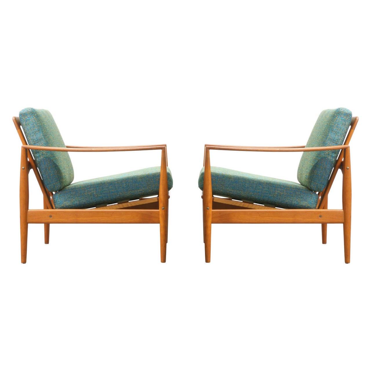 Illum Wikkelsø Teak Lounge Chairs at 1stdibs