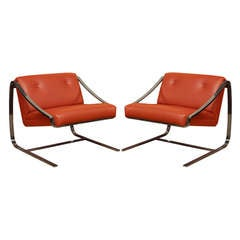 "Charles Gibilterra ""Plaza"" Lounge Chairs for Brueton"