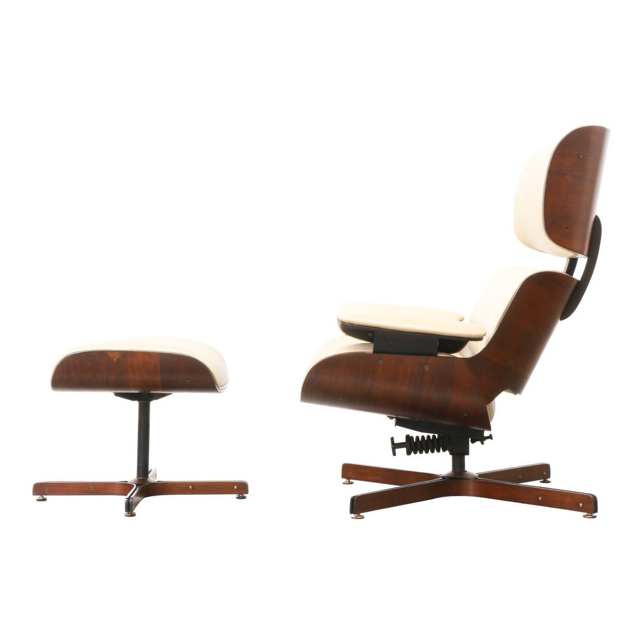 George Mulhauser Lounge Chair with Ottoman for Plycraft at 1stdibs