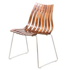 """Hans Brattrud """"Scandia"""" Rosewood Chair for Hove Mobler"""