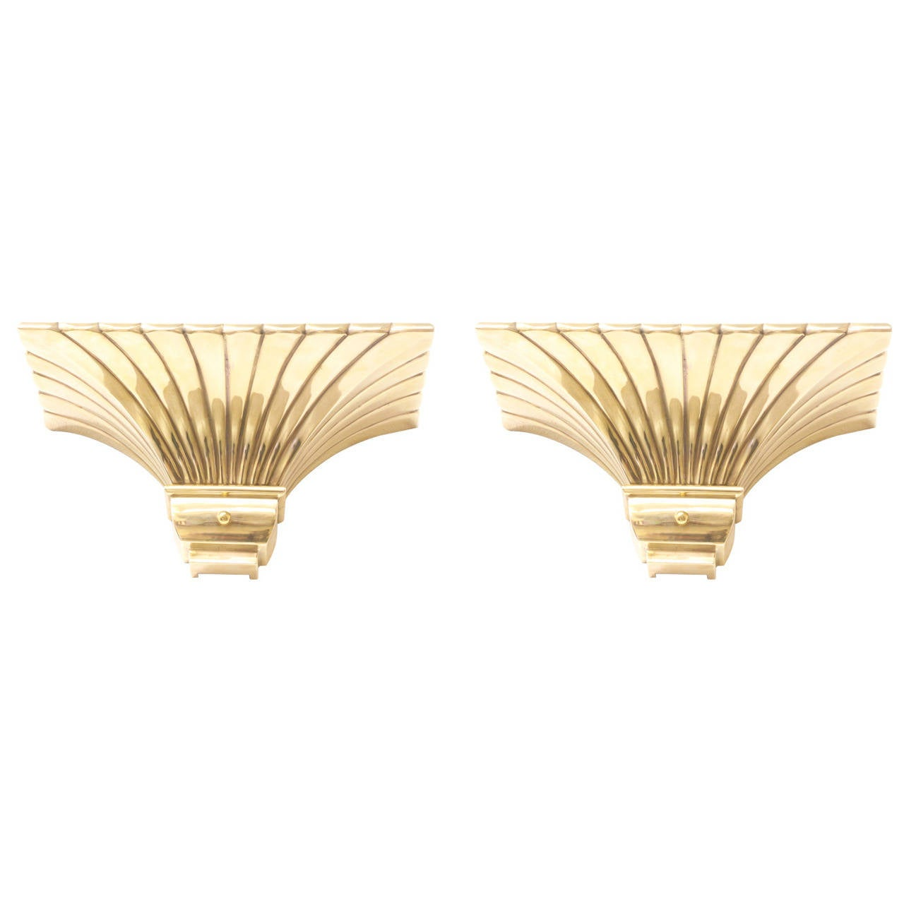 Chapman Brass Wall Sconces : Vintage Brass Sconces by Chapman For Sale at 1stdibs