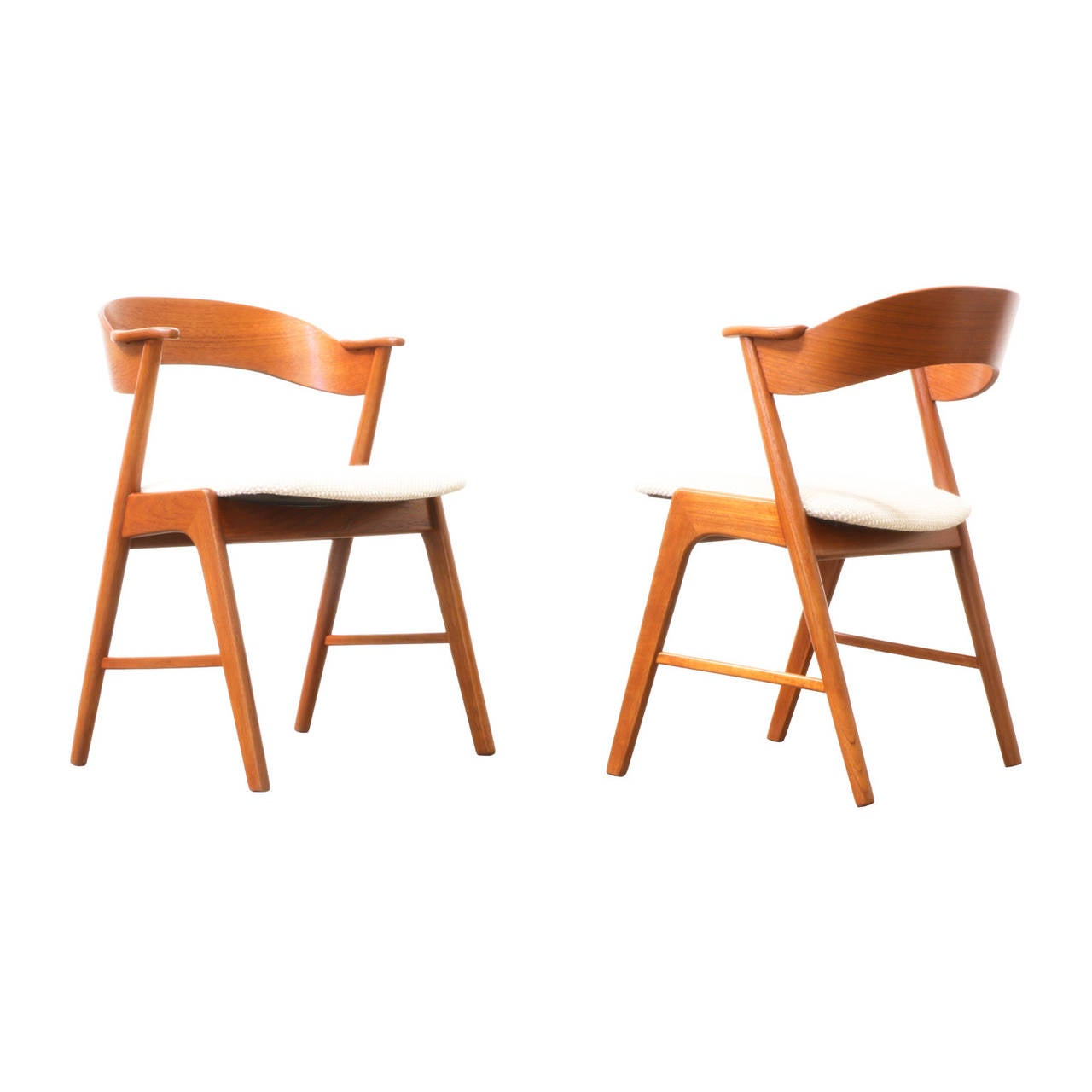 Kai Kristiansen Teak Dining Chairs By Korup Stolefabrik At 1stdibs