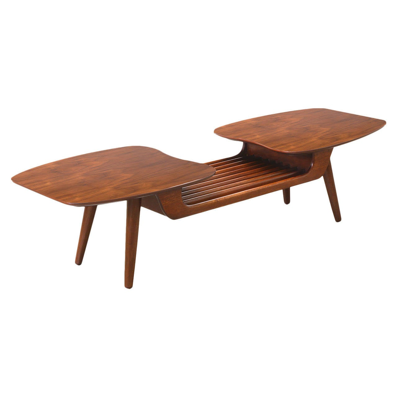 Mid century floating top coffee table by ace hi at 1stdibs Mid century coffee tables