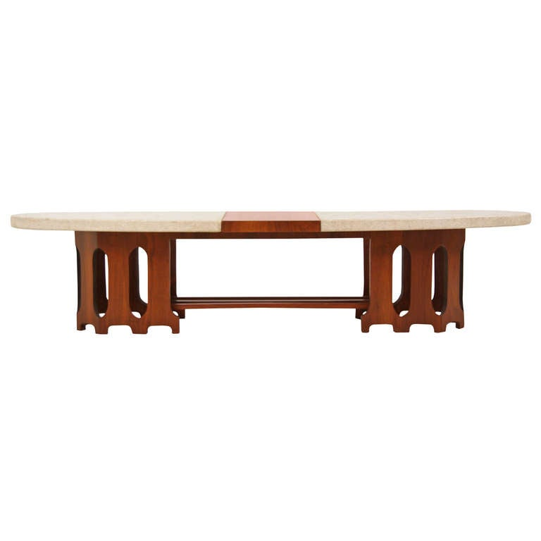 Harvey Probber Marble Top Rectangular Coffee Table W: Mid Century Terrazzo Marble Top Coffee Table By Harvey