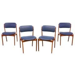 Erik Buck Teak Dining Chairs for O.D. Mobler