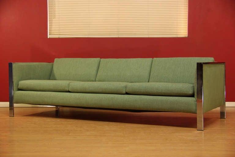 Vintage Chrome Sofa by Milo Baughman 2