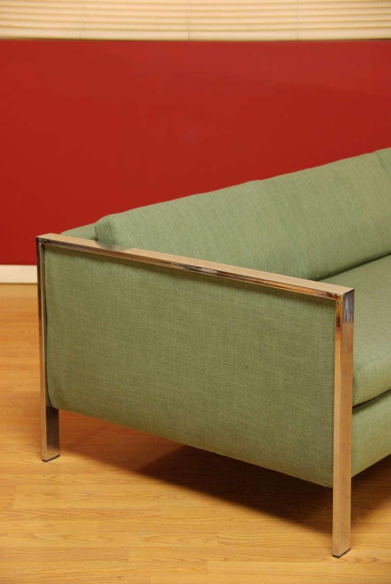 Vintage Chrome Sofa by Milo Baughman 3