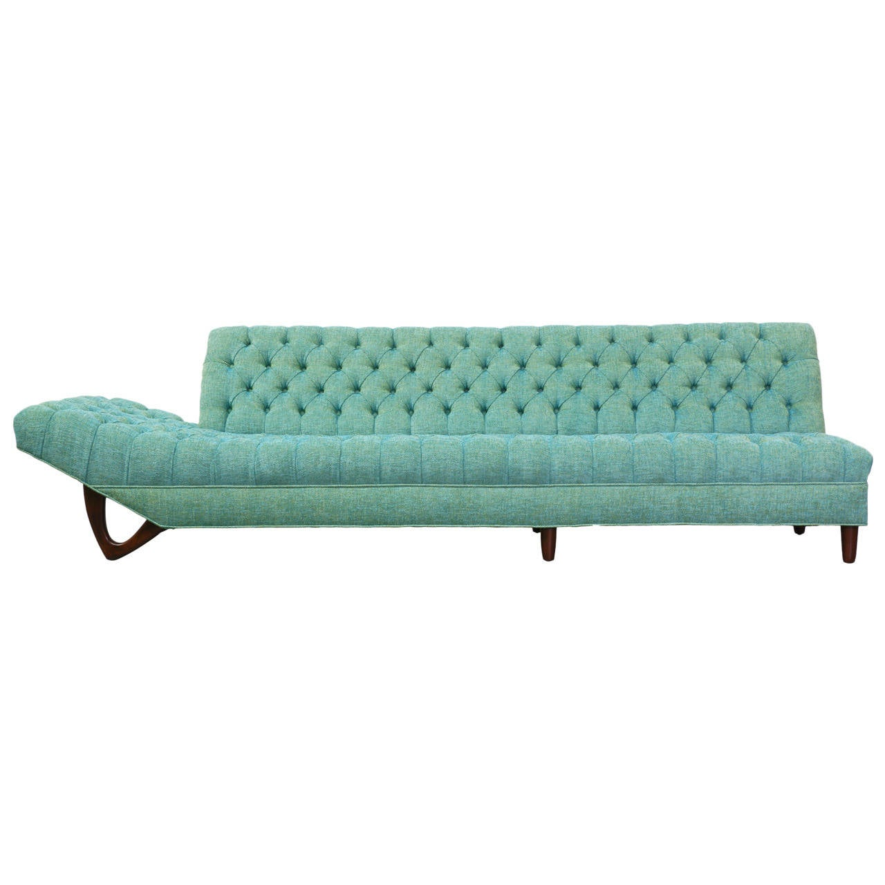 Chaise Lounge Styles: Craft Associates Style Tufted Sofa Or Chaise Lounge At 1stdibs