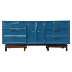 American of Martinsville Lacquered Dresser with Brass Hardware