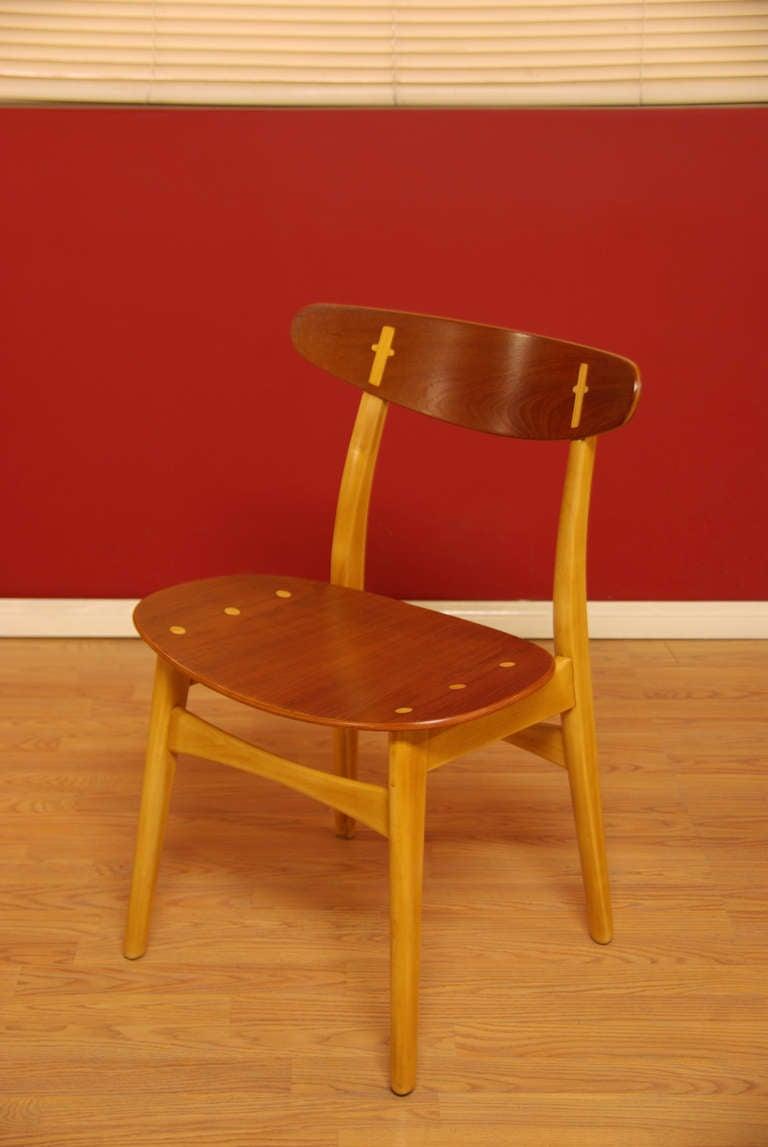 Ch 30 teak dining chairs by hans j wegner image 5 for Wegner dining chair
