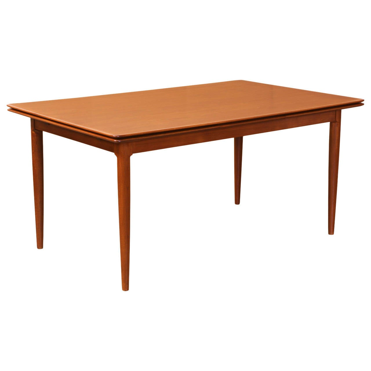 Danish modern teak draw leaf dining table for sale at 1stdibs for Danish modern dining room table