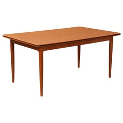 Danish Modern Teak Draw-Leaf Dining Table