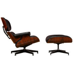 Leather Rosewood Eames Lounge Chair
