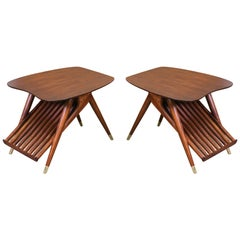 Mid-Century Magazine Side Tables by Ace-Hi