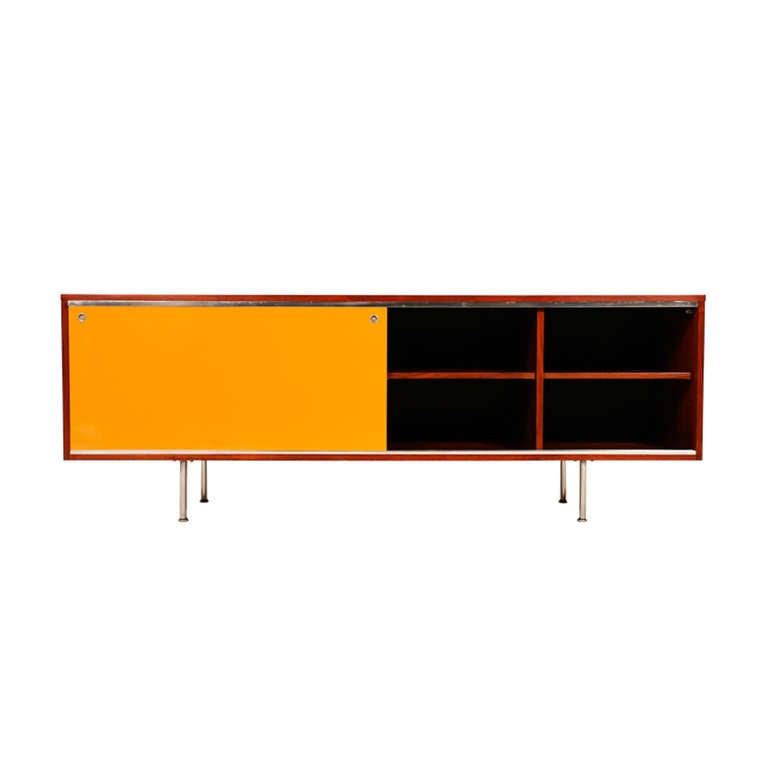 George Nelson Lacquer Credenza For Herman Miller At 1stdibs