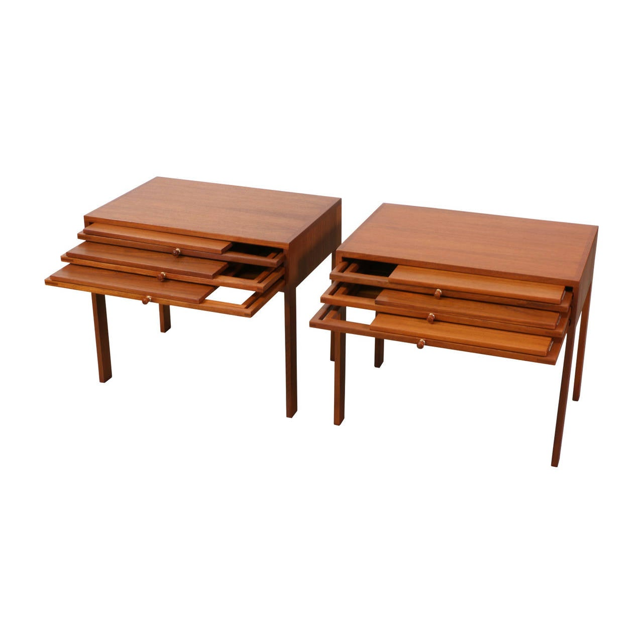 Illum wikkelso table set with three folding side table trays for sale at 1stdibs - Archives departementales 33 tables decennales ...