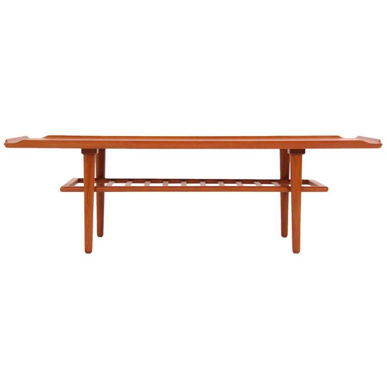 Danish Modern Teak Coffee Table By Georg Jensen At 1stdibs