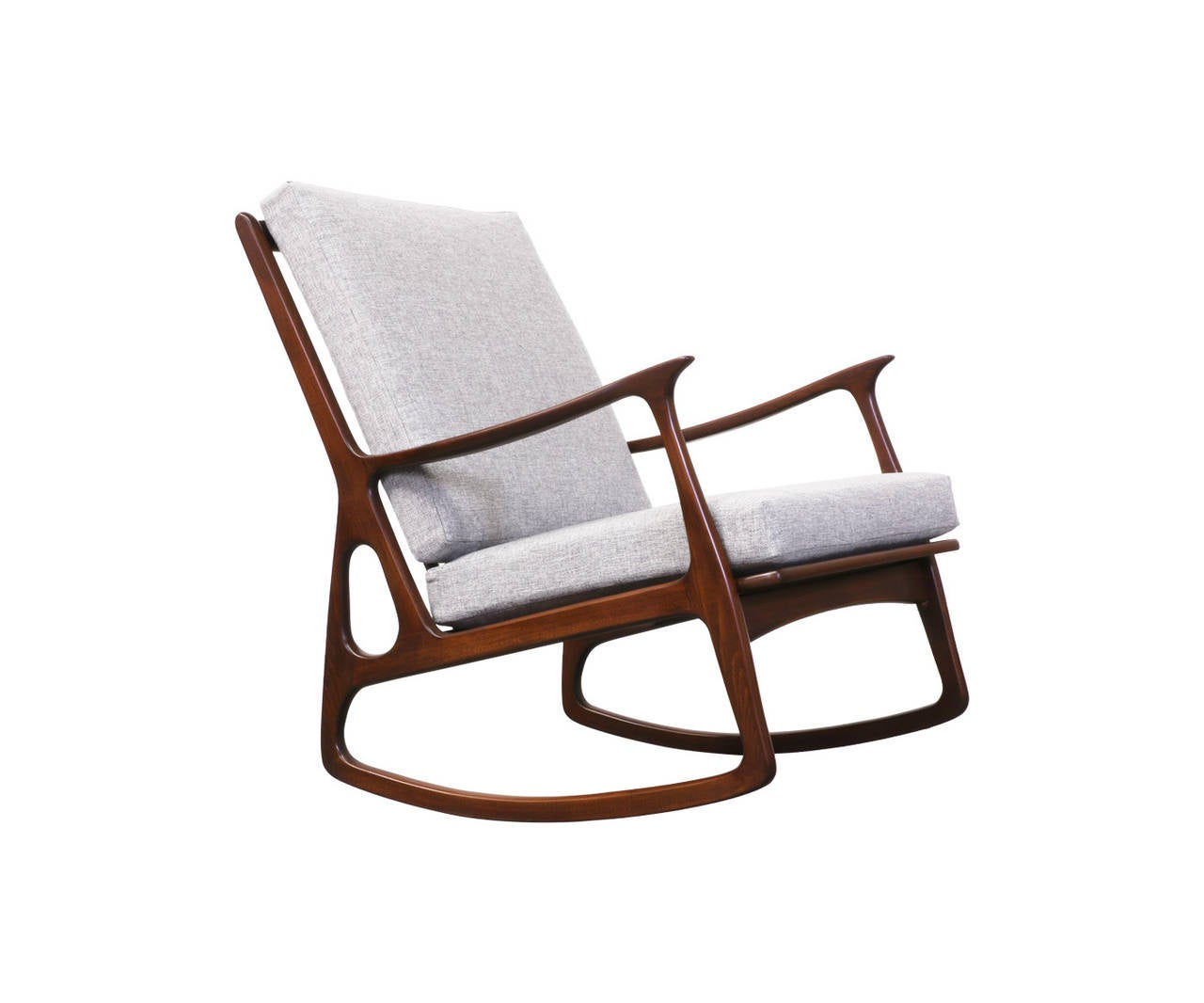 this midcentury italian walnut rocking chair is no longer available