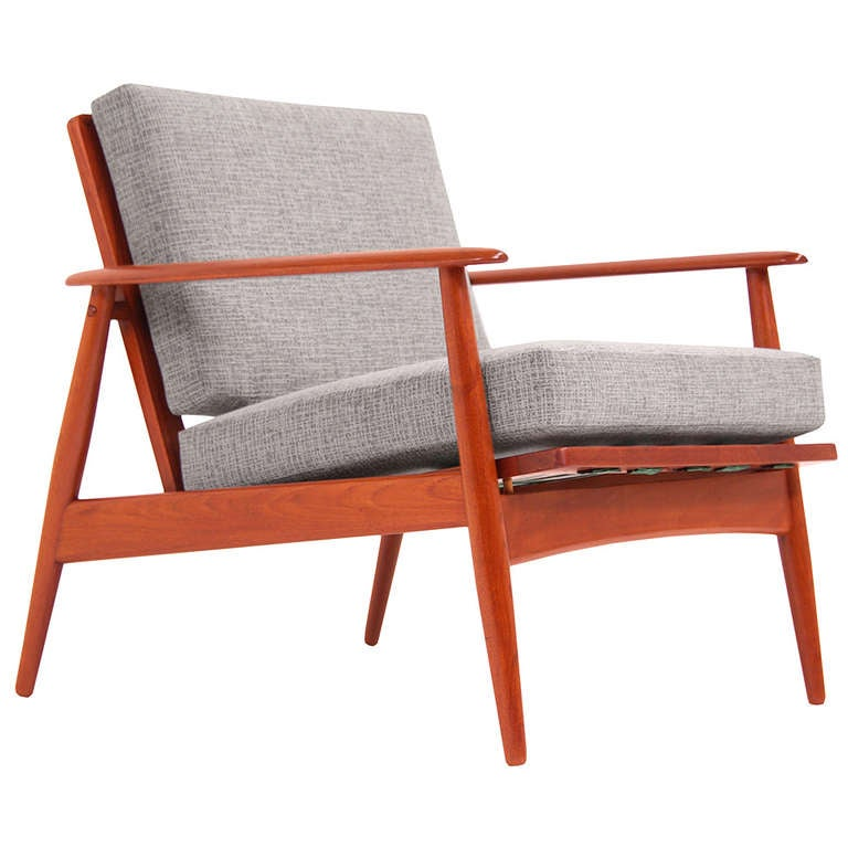 Danish modern teak lounge chairs by moreddi at 1stdibs Danish modern furniture