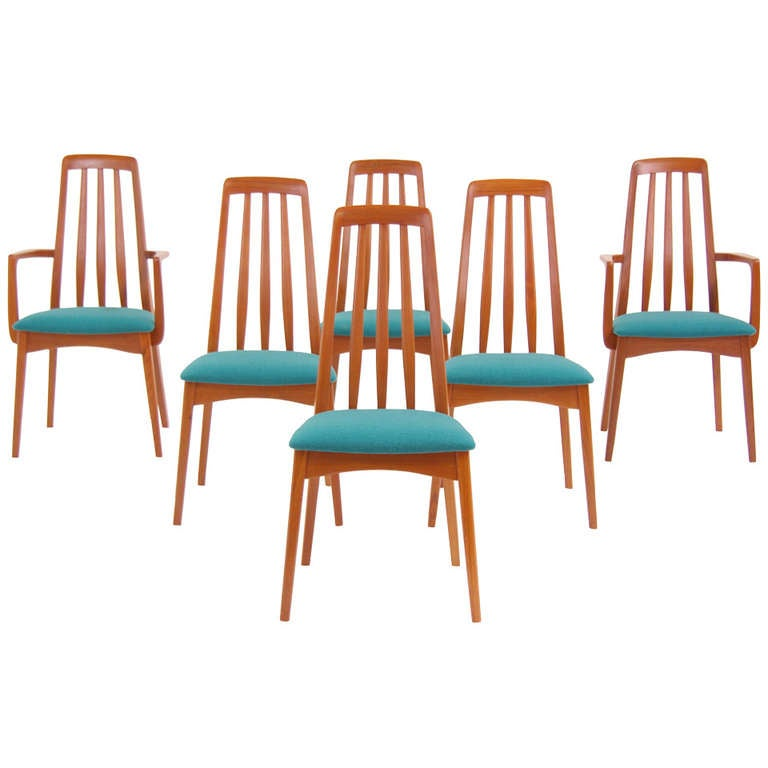 Danish Modern Teak Dining Chairs By Svegards Markaryd At