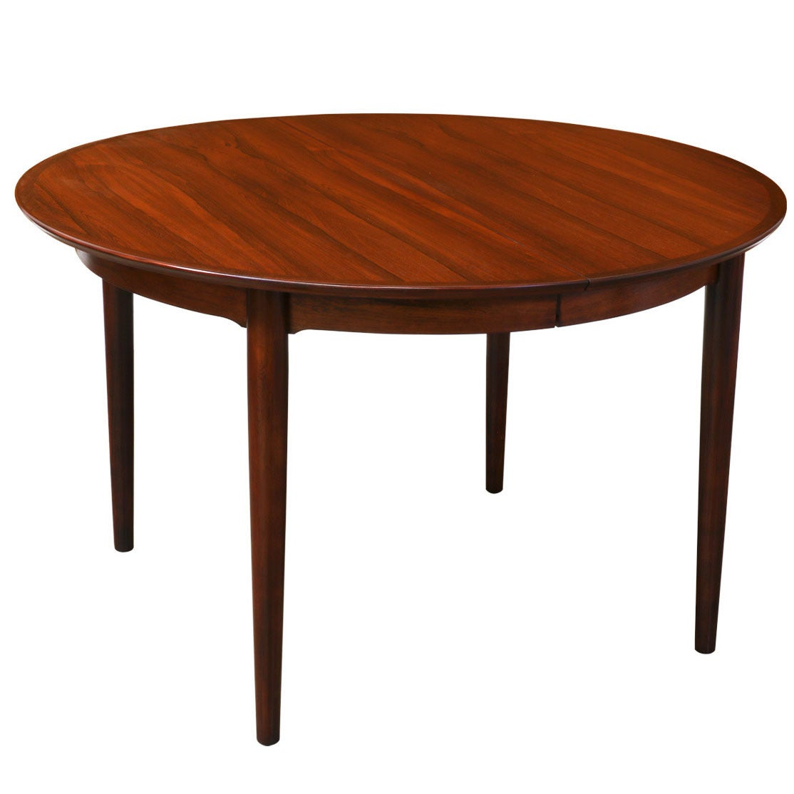 Danish modern rosewood expanding dining table at 1stdibs for Danish modern dining room table