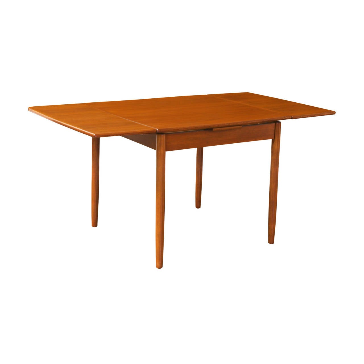 square dining table with leaf extension modern teak square draw leaf dining table at 1stdibs 9377