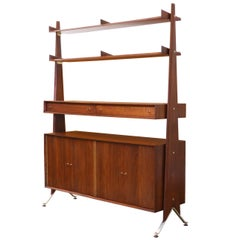 Swedish Modern Freestanding Storage Bookshelf Unit