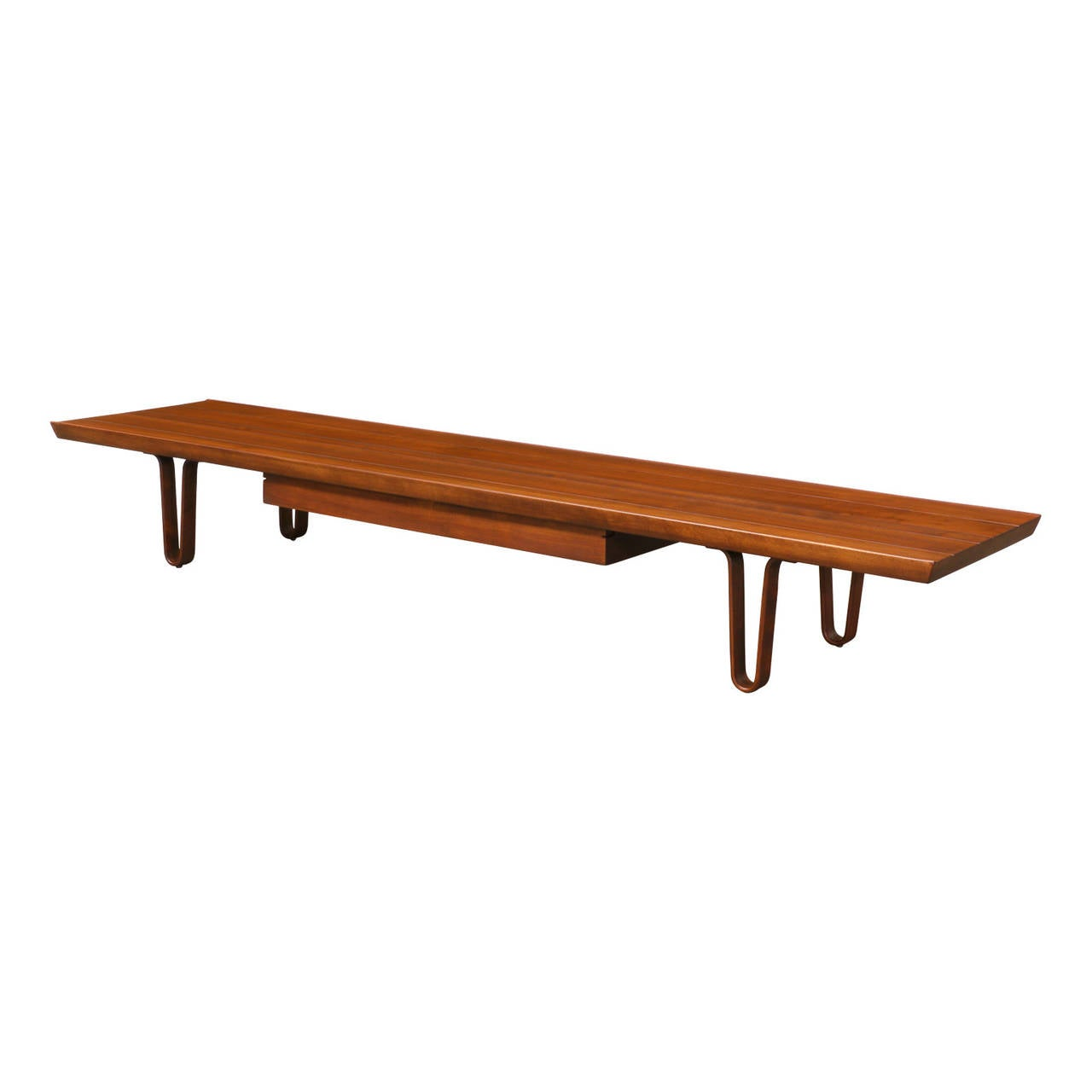 Edward j wormley low profile bench or coffee table for for Cocktail table with 4 benches