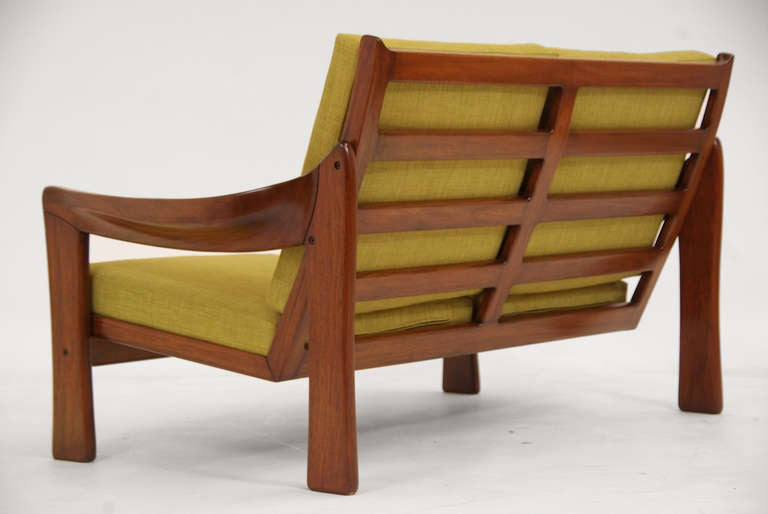 Vintage Brazilian Exotic Wood Settee For Sale At 1stdibs